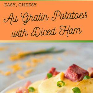 Formaggio cremoso e semplicemente la migliore ricetta di patate gratinate con prosciutto a dadini