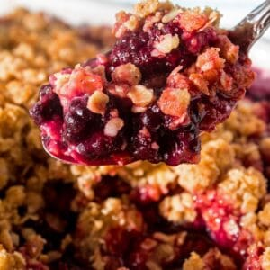 My favorite summertime blackberry tradition is this delicious blackberry crisp!!