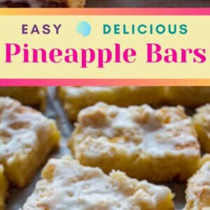 Rich, delicious pineapple bars are simply amazing either with fresh or canned pineapple!
