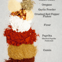 Mezcla de condimentos para tacos