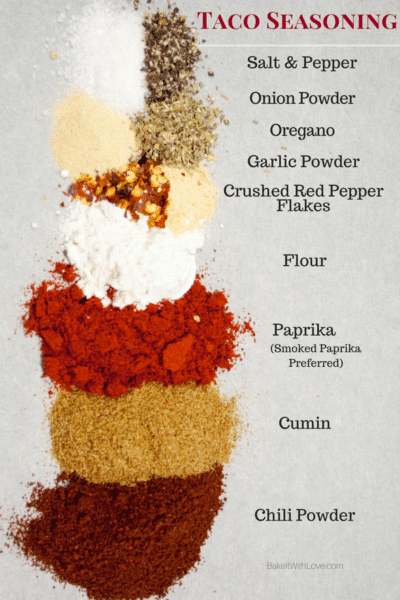 Taco Seasoning Mix di Bake It With Love, www.bakeitwithlove.com