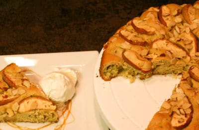 Apple Cake sliced and served
