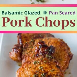 These fantastic flavored pan seared pork chops are super easy to make and cook up in no time for a great dinner even on busy nights!