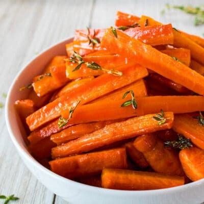Honey and Herb Oven Roasted Carrots