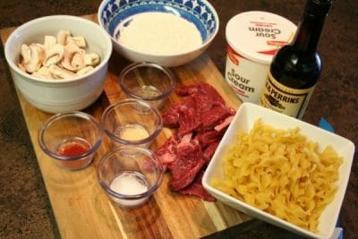 Quick and Easy Beef Stroganoff Recipe Ingredients