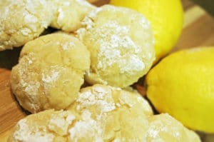 Lemon Butter Button Cookies Recipe - Lemon Crinkle Cookies