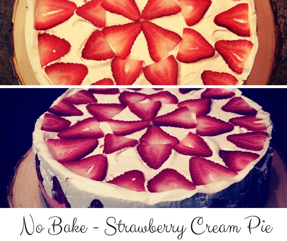 No Bake - Strawberry Cream Pie