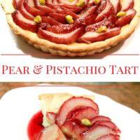 Pear and Pistachio Cream Tart