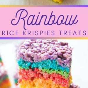Fantastic, fun, and colorful Rainbow Rice Krispies Treats are an easy no-bake treat for all occasions!