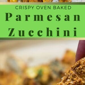 Delicious, tender zucchini coated with a Parmesan bread coating then baked until you have these super tasty crispy baked zucchini fries!
