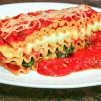 Sauteed Spinach Vegetarian Lasagna Recipe