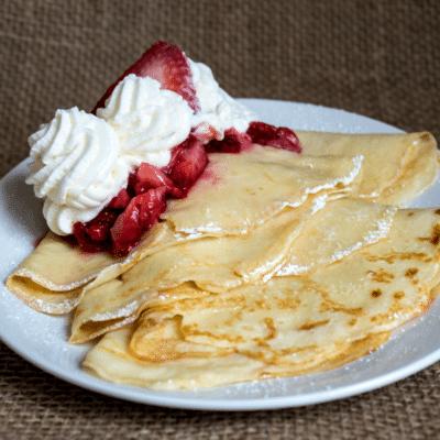 Strawberry Buttermilk Crepes Recipe