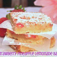 Strawberry Pineapple Lemonade Bars