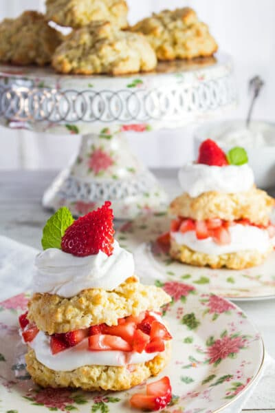 This classic Strawberry Shortcake recipe is so easy but so very delicious and the perfect use of fresh summer strawberries!