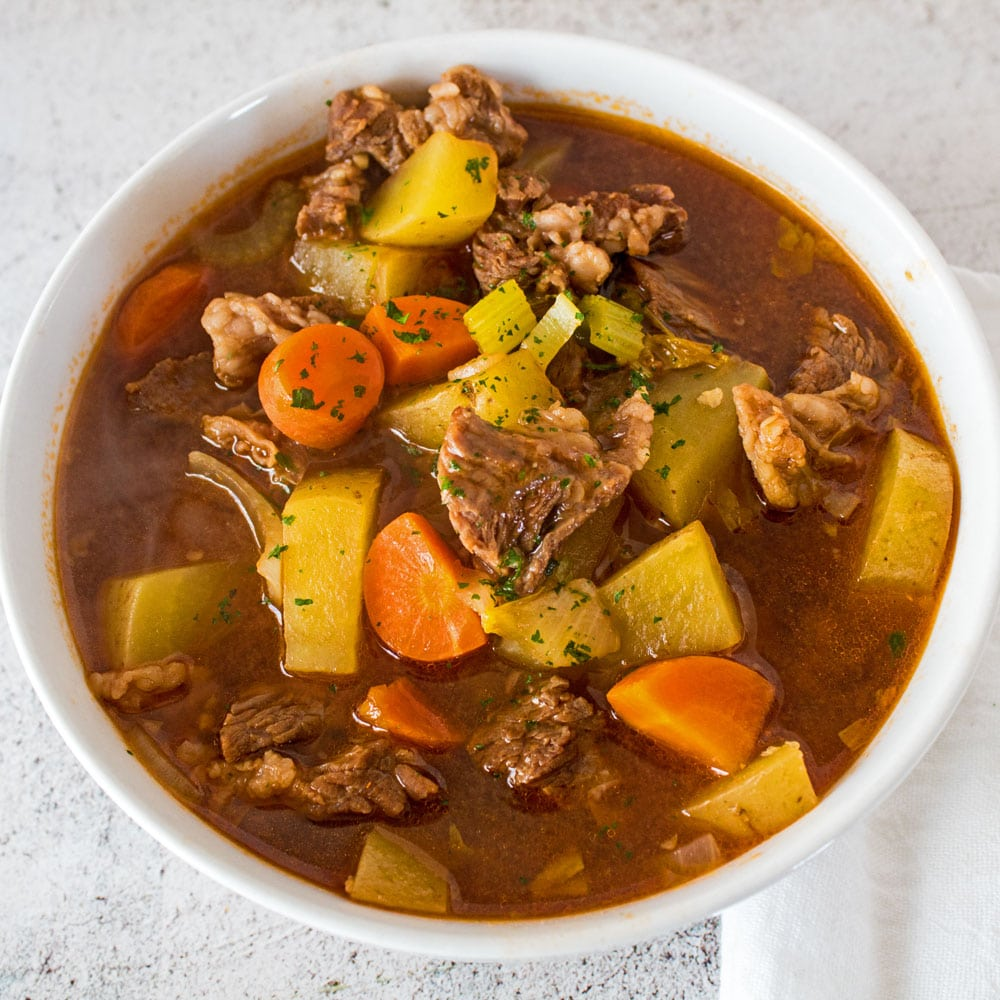Homemade Beef Stew From Beef Bone Broth Recipe