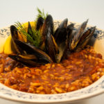Chorizo ​​Mussels di Delectable, www.delectablecookingandbaking.com