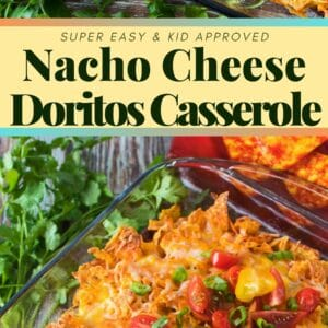 This super easy layered ground beef Doritos Casserole is a family favorite dinner that's ready in no time!