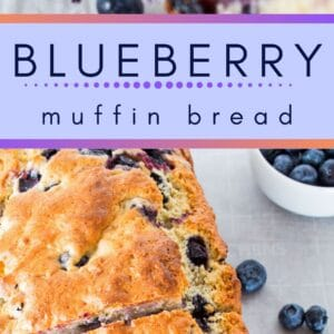 Delicious blueberry muffin bread is perfect for slicing and buttering in the mornings!