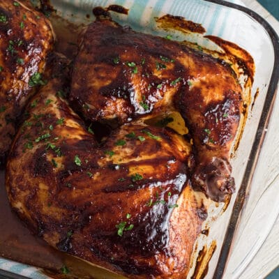 Baked BBQ Chicken Leg Quarters
