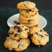 Galletas de chispas de chocolate Paleo, BakeItWithLove.com