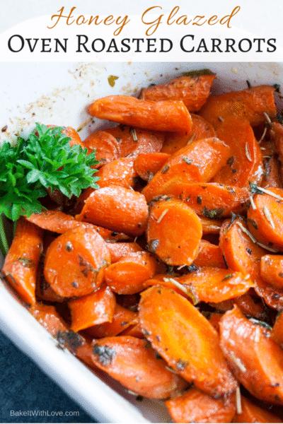 Zanahorias asadas al horno glaseadas con miel