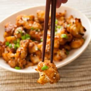 Asian Miso Roasted Cauliflower recipe, BakeItWithLove.com