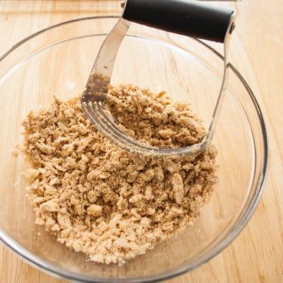 Aderezo de Streusel de azúcar moreno