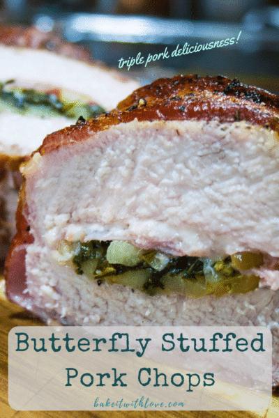 Butterfly Stuffed Pork Chops