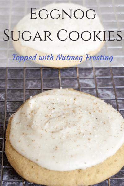Eggnog Sugar Cookies with Nutmeg Frosting