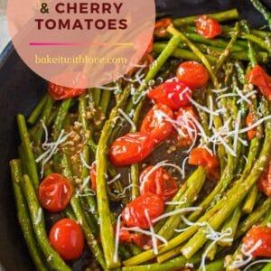 sematkan gambar di atas asparagus tumis dan tomato ceri.