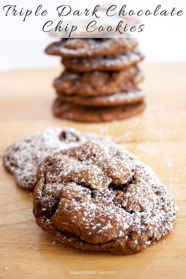 Triple Dark Chocolate Cookies