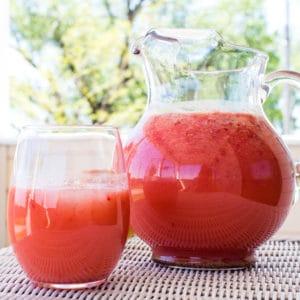 Receta de exprimidor de limonada de piña y fresa