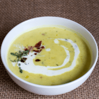 Potato Leek Soup with Bacon & Chives