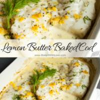El bacalao al horno con mantequilla de limón, fácil de hacer, es deliciosamente picante.