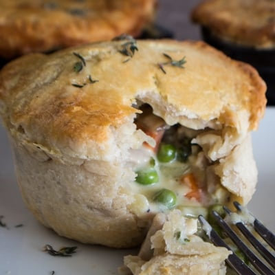Mini Chicken Pot Pies From Scratch