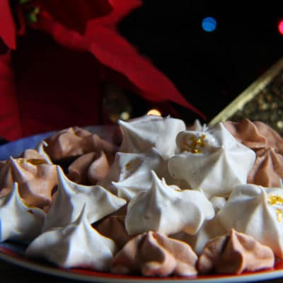 Christmas Eggnog Meringue Cookies