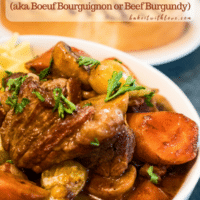 Just what the cold weather called for! A hearty bowl of this amazing classic beef stew, Beef Bourguignon (Boeuf Bourguignon)!