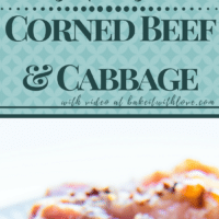 Corned Beef and Cabbage, a comfort food dish that is equally suited to everyday family meals as it is to being the centerpiece of St. Patrick's Day celebrations!