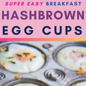 These super easy to make baked hash brown egg cups are tasty on-the-go breakfast baked in muffin tins!