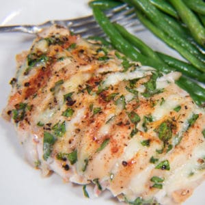 Hasselback chicken with spinach bacon and cheese