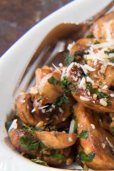 Sautéed Balsamic Mushrooms at bakeitwithlove.com
