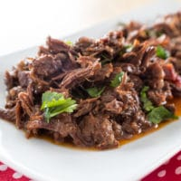 Super easy Instant Pot Chipotle Barbacoa Beef Cheeks make the best beef tacos ever!!
