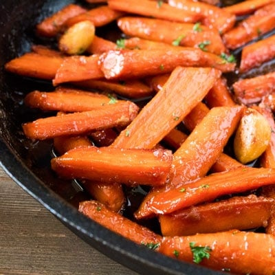 Skillet Brown Sugar Glazed Carrots