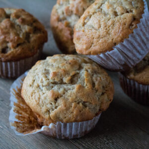 Banana Nut Muffins are a delicious on the go breakfast