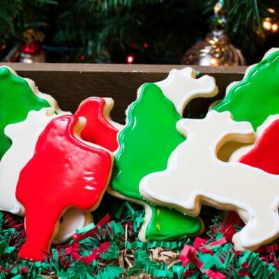Parlak Şekerli Kurabiye Buzlanma (sertleşir) tatil şekeri kurabiye süslemesi için kolay bir krema