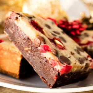 Chocolate Chip Maraschino Cherry Almond Bars are a decadent treat for all of your chocolate covered cherry lovers