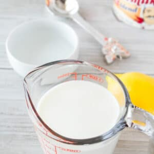 Here are my 6 quick and easy buttermilk substitutes for all of your buttermilk recipes!