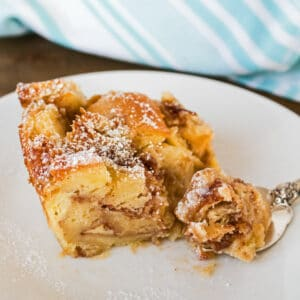 My Cinnamon Roll Bread Pudding is a holiday favorite for treating the family to an amazing breakfast