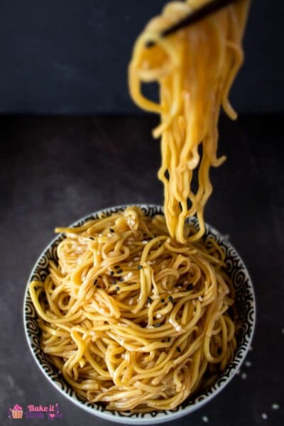 Quick and easy HIbachi Noodles are the perfect base for piling on deliciously grilled meats and vegetables