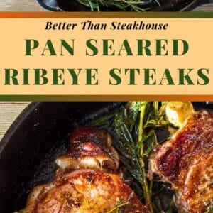 Even if you're a grilled steak fan, you'll love this easy and tasty pan seared ribeye steak!